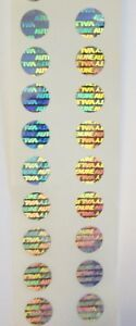 100 To 1000 Svag 10 Mm Hologram Label Tamper Evident Adhesive Stickers