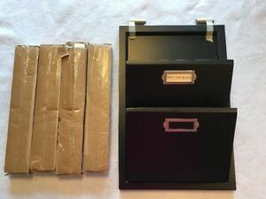 Pottery Barn Wooden Wall Hanging File Holder For Folders Mail Paper Letter New