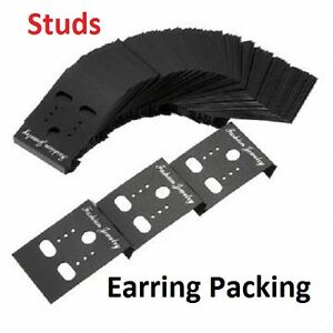 1200x Jewelry Packaging Plastic Earring Studs Holder Cards
