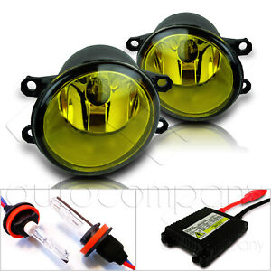 Fit 16 Scion Im 17 18 Toyota Im Replacement Fog Light Lamps W hid Kit Yellow