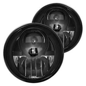 Recon 7 Round Black Smoke Projector Led Headlights For 07 17 Jeep Wrangler