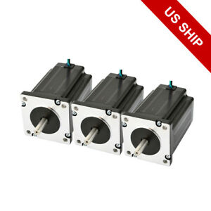 3pcs Nema 24 Stepper Motor Dual Shaft 439oz in 3 1nm 3 5a For 3 Axis Cnc Kit