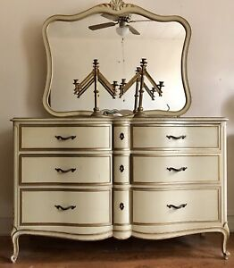 Vintage Drexel Dresser With Mirror And Secret Compartment