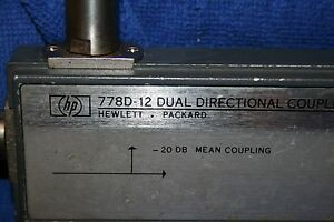 Hp 778d 12 Dual Directional Coupler 0 1 2 0 Ghz