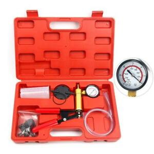 Hand Held Vacuum Pressure Pump Set Car Brake Fluid Bleeder Tester Tool Kit