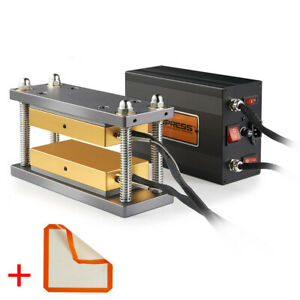 Dabpress 3x7 Caged Plates Kit Paired With 20 Ton Electric Hydraulic Press