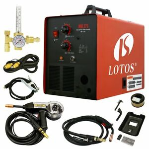Lotos Mig175 175amp Mig Welder With Free Spool Gun Mask Aluminum Welding