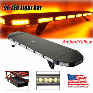 41 96 Led Warn Strobe Light Bar Flash Tow plow Truck Amber Yellow Us