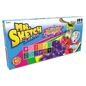 Washable Markers Chisel Assorted Colors 192 set Per St