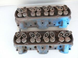 1965 Pontiac 326 62 Cylinder Heads Pair Tempest lemans 1966 1967 Engine Firebird