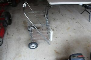 Vintage Shopping Cart Used Steel Construction Multiple Uses
