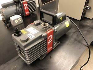 Edwards 2 Vacuum Pump Good Condition Great Vacuum Draw Id Qc 700174