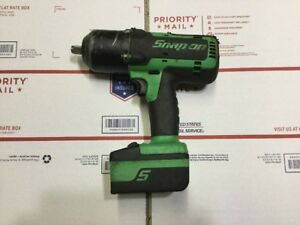 Snap On Tools Ct7850g 1 2 Cordless Impact Wrench With 18 Volt Battery