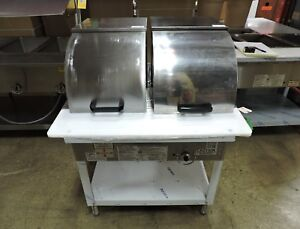 Duke Wb302 Two Comp Steam Table W Roll Cover Hose Lp