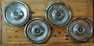 Vintage 1971 1972 1973 Buick Lesabre 15 Inch Hubcaps Wheel Covers Set Of 4