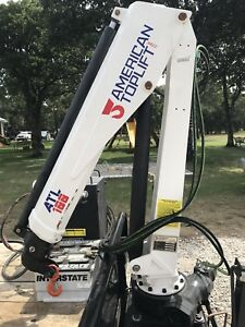 American Toplift Atl 100 Auto Crane 2586lb Lift Capacity 15ft Reach Knuckle Boom