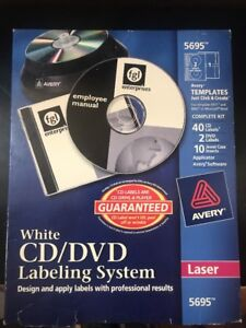 New Avery Cd dvd Labeling System For Laser Printers White 5695 40 Cd Labels A32