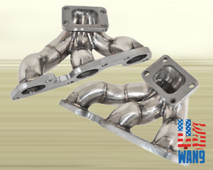 For Nissan Skyline R32 R33 R34 Gtr Rb26 T3 Twin Turbo Manifold Stainless Header