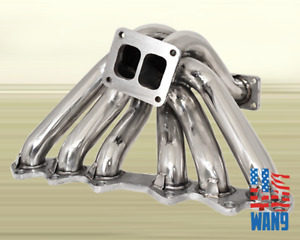 93 98 Toyota Supra Jza80 Is300 2jz gte T4 Turbo Manifold Stainless Header