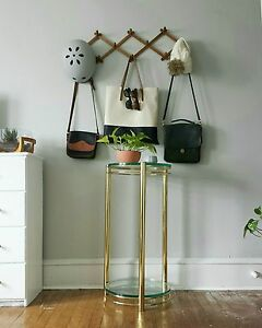 Brass Table Brass Plant Stand Tall Plant Stand Glass Brass Table Side Table
