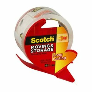 3m 3650s rd 1 88 X 38 2 Yds Clear Scotch Packing Tape W dispenser 18 Rolls