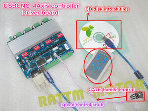 4 Axis Nema23 Tb6560 Usbcnc Stepper Motor Driver Controller Board For Cnc Router
