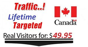 Lifetime Canada Targeted Visitors To Your Website Low Bounce Rate
