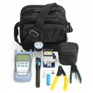 Fiber Optic Ftth Tool Kit Fc 6s Fiber Cleaver Optical Power Meter Fault Locator