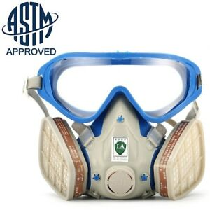 Full Face Respirator Gas Mask Goggles Chemical Dust Proof Fire Paint Apparatus