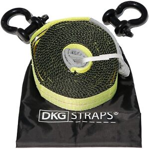 3 X 20 Extra Heavy Duty 2 ply Recovery Tow Strap 2 Shackles And Storage Bag