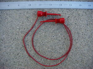 Lot Of Ten 10 24 Red Ez hook Test Leads 204 24w Red New And Unused