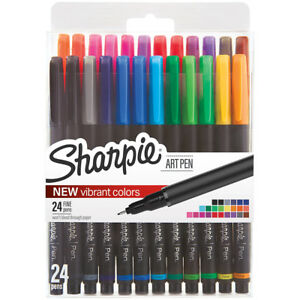 Sanford 1983967 Sharpie Fine Point Art Pen W hardcase 24 pkg assorted
