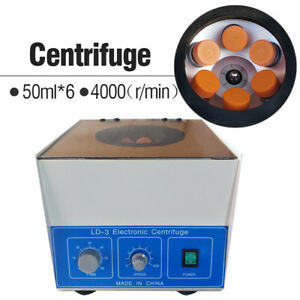 6 50ml Ld 3 Electric Benchtop Centrifuge Lab Medical Practice 4000rpm Laboratory
