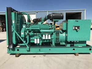 _600 Kw Cummins Onan Generator Set 12 Lead Reconnectable 414 Hours 277 48