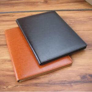 Leather Travel Journal Document Bags Business Folder Portfolio Case Notebook