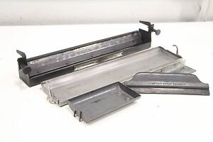 Lot Of Printing Press Ink Liquid Catch Tray With Roller Rubber Squeegee