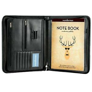 Wundermax Padfolio Portfolio With Bonus Writing Pad Professional Interview Pu