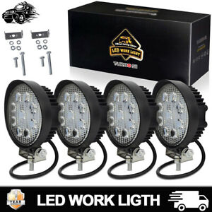 4pcs 4 Inch Led Work Light Bar Pods Offroad Atv Fog Truck 4wd Utv 12 24v 36w 5