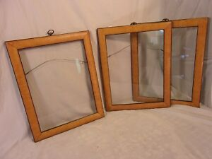 Lot Of 3 Vintage Faux Grained Frames 14 1 2 X 18 1 2 Holds 12x16 Molding 1 1 2