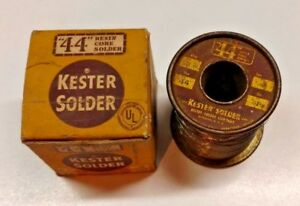 Vintage Kester Flux 44 Core 66 Resin Solder Wire 015 Dia Qty 2