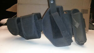 Police Duty Belt Black Used Holster Double Mag Pouch Cuff Holder And More