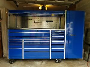 Snap On Tool Box Krl1023cpcm1 With Side Cabinetand Hatch Top