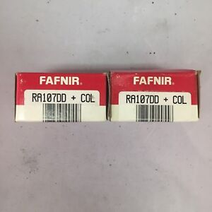 Fafnir Ra107dd Ball Bearings With Collars Lot Of 2 New