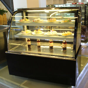 Refrigerated Bakery Showcase Pie Display Cabinet Commercial220v Cake Case 35 4in