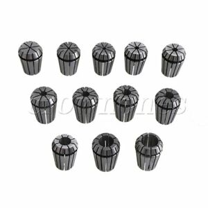 12pcs Er25 Spring Chuck Collet Set For 2mm 16mm Cnc Router Engraver