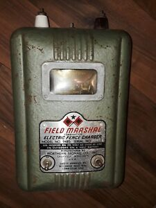 Vintage Field Marshal Electric Fence Charger Northern Signal Saukville Wi