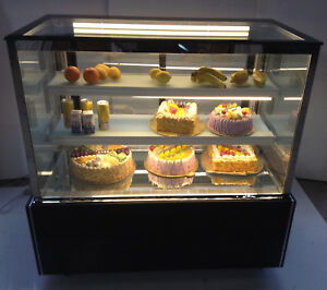 Square Cake Showcase Bakery Dessert Bakery Refrigerated Display Cabinet Case220v