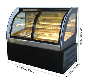 Bakery Showcase Commercial 220v Cake Showcase 35in Dessert Pie Refrigerated Case