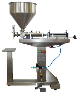 110v 10 300ml Liquid Paste Filling Machine With Stand For Cream Honey Sauce