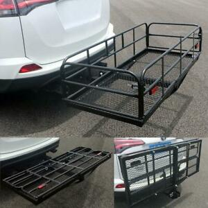 Multifunctional Folding Hitch mount Cargo Carrier Mounted Basket Luggage Rack